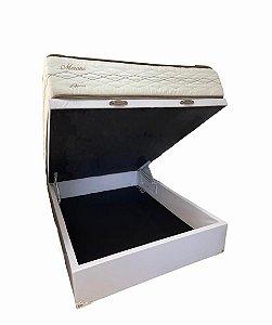CONJUNTO: BOX COM BAÚ + COLCHÃO HERVAL MERANO CASAL 138X188