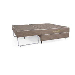CAMA BOX HERVAL SOLTEIRO SUITE MASTER 088X188X50 MOLAS BONNEL COM AUXILIAR