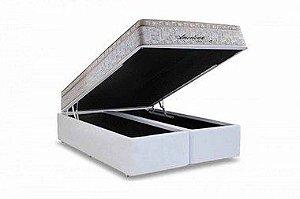 CONJUNTO BOX BAÚ + COLCHÃO AMERICAN MOLAS MAXSPRING HERVAL QUEEN 1,58X1,98