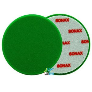 "BOINA DE ESPUMA VERDE 160MM COM FURO 6"" - SONAX"