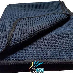 TOALHA DE SECAGEM BLACK TWIST WAFFLE WAVE TOWEL 400GSM (50X90cm) - AUTO CRAZY