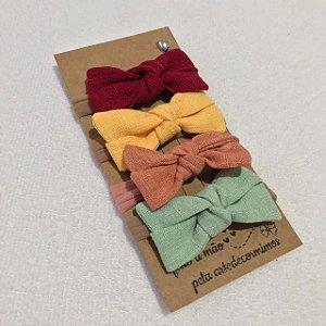 Conjunto tiara meia de seda Linho
