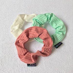 Conjunto Scrunchies: Branco, rosê e menta
