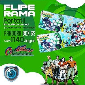 FLIPERAMA 2 JOGADORES CADILLACS AND DINOSAURS EM ACRILÍCO COM LED P/ TV