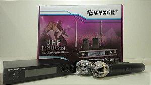 MICROFONE SEM FIO UHF WVNGR WG-2009B