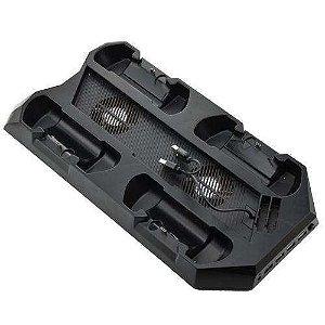 BASE VERTICAL PS4+COOLER CARREGADOR DE 4 CONTROLE 10 EM 1