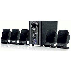 CAIXAS P/ HOME THEATER 5.1 CANAIS MONDIAL MULTI HOME HT-11 COM ENTRADA USB/SD, RADIO E CONTROLE REMOTO - BIVOLT - 75W