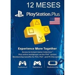 CARTÃO PSN 12 MESES PLAYSTATION NETWORK PLUS USA PS3 PS4