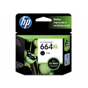 CARTUCHO DE TINTA HP 662XL PRETO - ALTO RENDIMENTO - CZ105AB