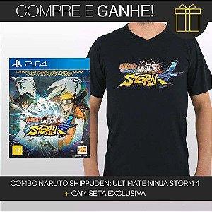 COMBO PS4 NARUTO 4 + CAMISETA MIDIA FISICA