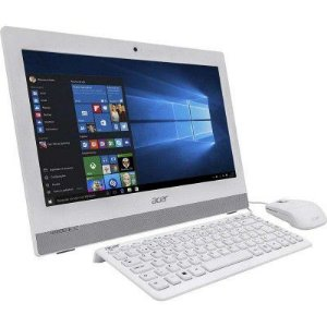 COMPUTADOR ALL IN ONE ACER INTEL PENTIUM QUAD CORE 4GB 500GB AZ1-752-BC52 19,5' WINDOWS 10 BRANCO