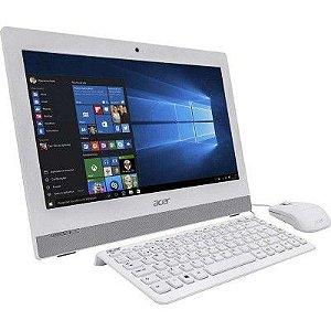 COMPUTADOR ALL IN ONE ACER INTEL PENTIUM QUAD CORE 4GB 500GB AZ1-752-BC52 19,5' WINDOWS 10 BRANCO