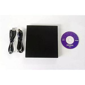 DRIVE EXTERNO SLIM USB GRAVADOR LEITOR CD LEITOR DVD NOVO