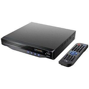 DVD PLAYER MULTILASER SP193 COM SAIDA HDMI 5.1 CANAIS KARAOKE USB COM CONTROLE REMOTO