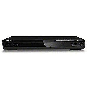 DVD PLAYER - SONY DVP-SR370 - ENTRADA USB FRONTAL, LEITOR MP3, PRETO