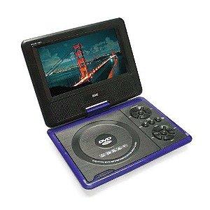 DVD PORTATIL 7.8 COM TV ANALOGICA, MP3 MP4 SD E FM
