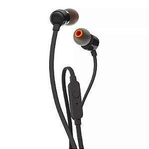 FONE DE OUVIDO ORIGINAL JBL T110 PRETO IN EAR BY HARMAN