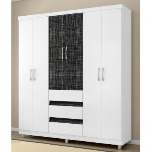 GUARDA-ROUPA ARAPLAC PARIS PLUS NEW COM 6 PORTAS E 3 GAVETAS 1446061