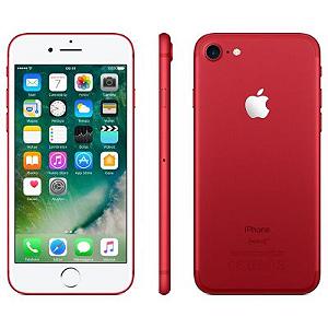 """IPHONE 7 APPLE 128GB, TELA RETINA HD DE 4,7"""", 3D TOUCH, IOS 10, TOUCH ID, CÂM.12MP, RESISTENTE À ÁGUA E SISTEMA DE ALTO-FALANTES ESTÉREO – VERMELHO"""