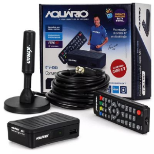 KIT CONVERSOR DIGITAL TV ANTENA INTERNA EXTERNA CABO 5,0MT