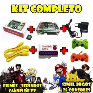 KIT FLIPERAMA + 12 MIL JOGOS + FILMES + TV 2 CONTROLES