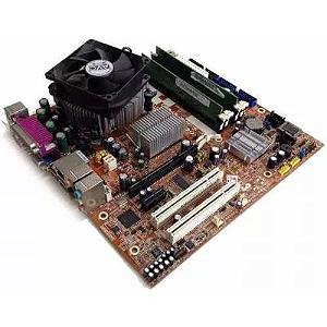 KIT PLACA MÃE 775 ST4150 DDR2+COOLER+ PROCESSADOR+COOLER!
