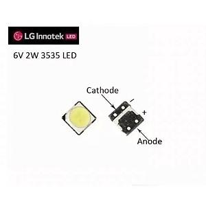 LED 6V 2W 3535 TV LG 39LB5600