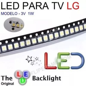 LED BACKLIGHT TV LG 2835_1W 3V 0,98 A UNIDADE