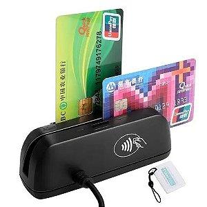 Leitor de cartão de crédito combo 3 em1 SZTW150 leitor de cartão magnético+EMV CHIP/RFID NFC