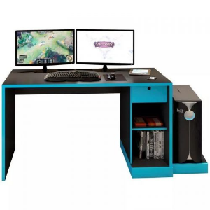 MESA PARA COMPUTADOR NOTEBOOK DESK GAME DRX 3000 PRETO/AZUL