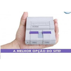 MINI SUPER NINTENDO 2 CONTROLES 8 MIL JOGOS. + PS1 + N64.