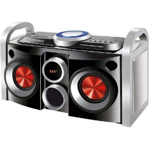 MINI SYSTEM MONDIAL SUPER SOUND BOX MS-08B COM ENTRADA USB/SD/AUX E RÁDIO FM - 30W
