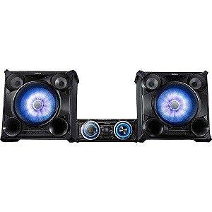 MINI SYSTEM SAMSUNG MX-FS8000 COM MP3, ENTRADA USB, DJ BEAT E ILUMINAÇÃO LED - 2.200 W
