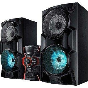 MINI SYSTEM SAMSUNG MX-HS6500/ZD 1 CD 2000W RMS COM BLUETOOTH TV SOUND CONNECT E DUPLO USB