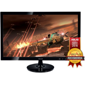 MONITOR GAMER LED ASUS 24, FULL HD, 2MS, WIDESCREEN, HDMI, SMART VIEW, ALTO CONTRASTE, GAMING MODE, D-SUB, DVI-D, VS248H-P