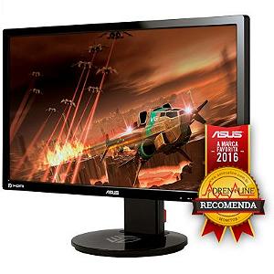 MONITOR GAMER LED ASUS 24, WIDESCREEN, FULL HD, 144HZ, 1MS, GAMEPLUS, DESIGN ERGONÔMICO, NVIDIA 3D VISION, DP, HDMI, DVI - VG248QE
