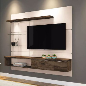 PAINEL PARA TV HOME SUSPENSO ORES OFF WHITE DECK