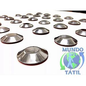 PISO TÁTIL ALERTA INOX POR ELEMENTOS SOLTOS INOX 25 PEÇAS