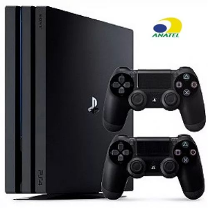 PLAYSTATION 4 PRO SONY 1TB PS4 4K BIVOLT 2 CONTROLES
