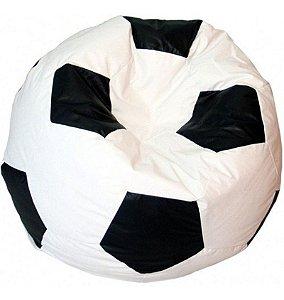 Puff Pufe Puf Bola Futebol 80cm Branco Vazio Sem Enchimento
