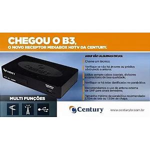 RECEPTOR MIDIABOX HDTV B3 CENTURY C/ CONVERSOR DIGITAL