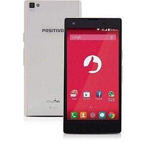 """SMARTPHONE POSITIVO X800 BRANCO DUAL CHIP ANDROID 4.4 WI-FI 3G PROCESSADOR OCTA-CORE TELA 5"""" CÂMERA 13MP MEMÓRIA 8GB"""
