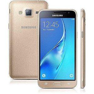 SMARTPHONE SAMSUNG GALAXY J3 SM-J320M/DS DOURADO DUAL CHIP ANDROID 5.1 LOLLIPOP 3G WI-FI PROCESSADOR QUAD CORE 1.5 GHZ