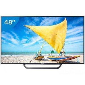 "SMART TV LED 48"" SONY FULL HD KDL-48W655D - CONVERSOR DIGITAL WI-FI 2 HDMI 2 USB DLNA"