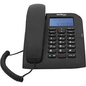 TELEFONE COM FIO TC60ID INTELBRAS COM IDENTIFICADOR DE CHAMADAS, VIVA VOZ COM AJUSTE DE VOLUME, DISPLAY LUMINOSO, LED PARA SINALIZAÇÃO DE CHAMADAS