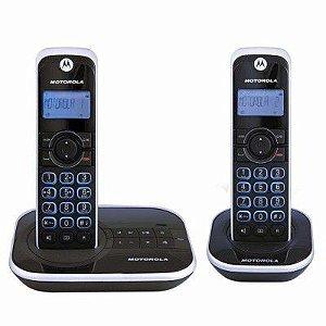 TELEFONE SEM FIO + RAMAL GATE 4500 MRD2, DECT 6.0, IDENTIFICADOR DE CHAMADAS, VIVA-VOZ, AGENDA, DESPERTADOR, LIVRE DE INTERFERÊNCIA - MOTOROLA