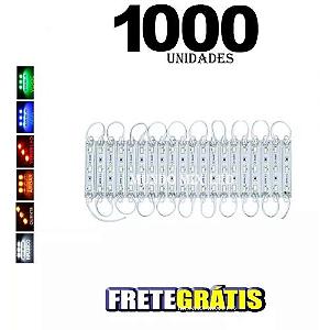 1000PÇS MÓDULO STRING 5730 COM 3LED IP65 1,7W FRIO 6000K 12V