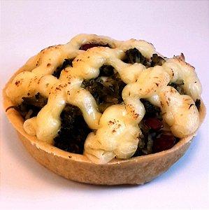 Torta sem glúten de brócolis com amêndoas - Individual - (200g)