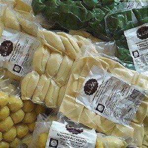 Ravioli de queijo meia cura e rapas de limão siciliano (500g).