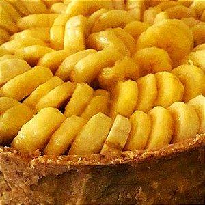 Torta de banana com doce de leite - Banoffee família 1300g